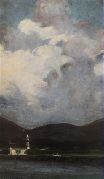 Dia de Chuva em Ponte de Lima, 1913 - António Carneiro