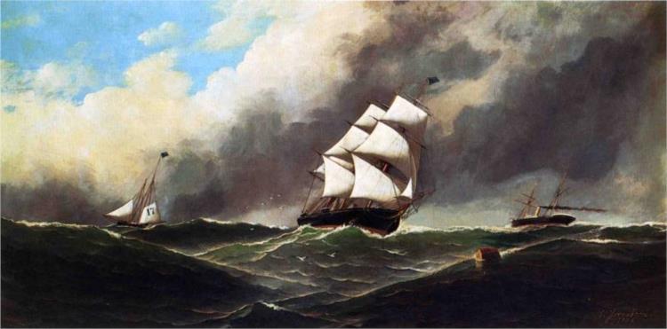 Stormy Seas, 1886 - Antonio Jacobsen