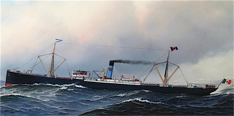The S. S. Cerea at Sea, 1909 - Антонио Якобсен