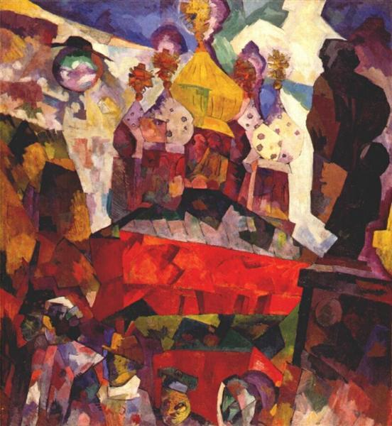 Tverskoi boulevard, 1917 - Aristarkh Lentulov