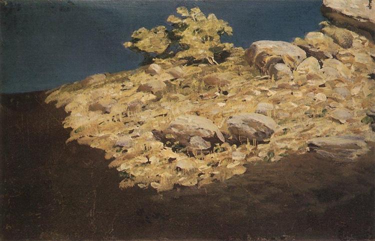 Mountain slope. Crimea, c.1890 - Arkhip Kuindzhi