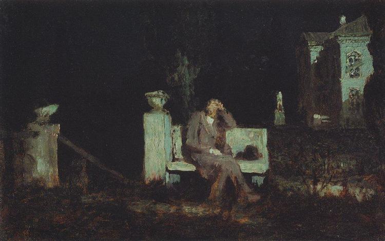 Moonlight Night. Meditation - Arkhip Kuindzhi