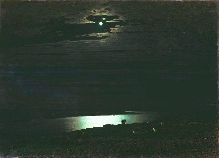 Moonlight Night on the Dnieper - Arkhip Kuindzhi