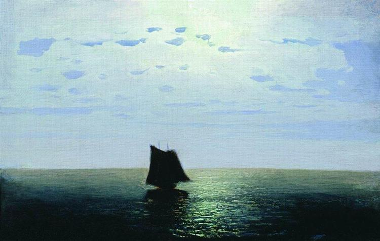 Moonlight Night on the Sea - Arkhip Kuindzhi