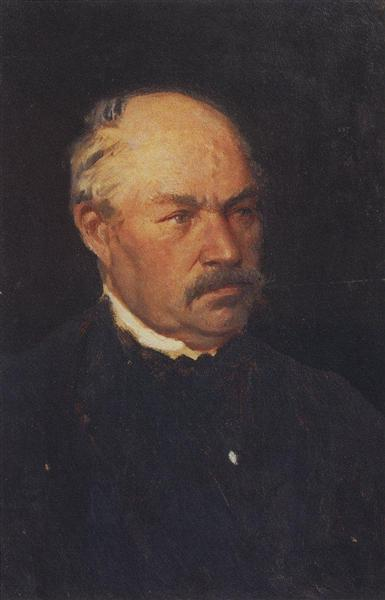 Portrait of an unknown man, c.1895 - Arkhip Kuindzhi