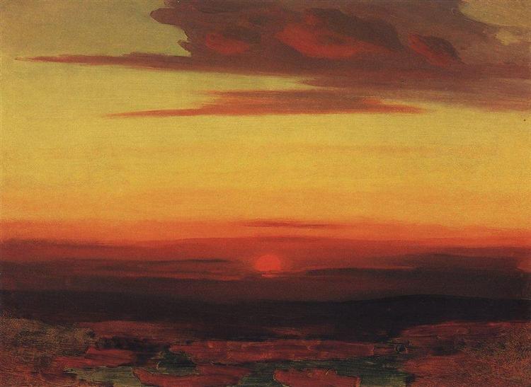 Sunset, c.1895 - Arkhip Kuindzhi