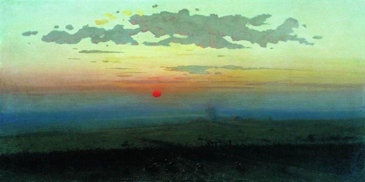 Sunset in the steppes, 1900 - Arkhip Kuindzhi