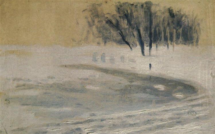 Winter, c.1895 - Arkhip Kouïndji