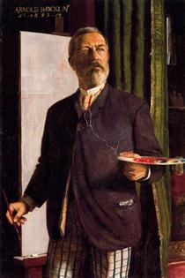 Self-Portrait in Studio - Arnold Böcklin
