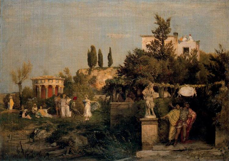 Tavern in ancient Rome, 1867 - Arnold Böcklin