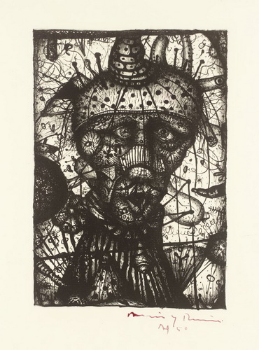 Head of the Diver (Deny Your Birth), 1950 - Arnulf Rainer