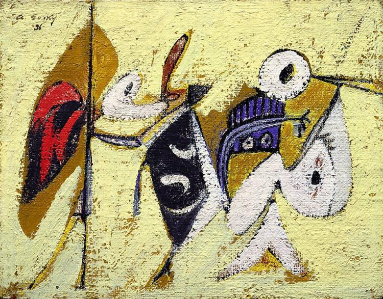 Battle at Sunset with the God of Maize (Composition No. 1), 1936 - Arshile Gorky