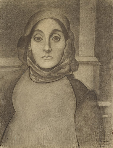 The Artists's Mother, c.1936 - Arshile Gorky