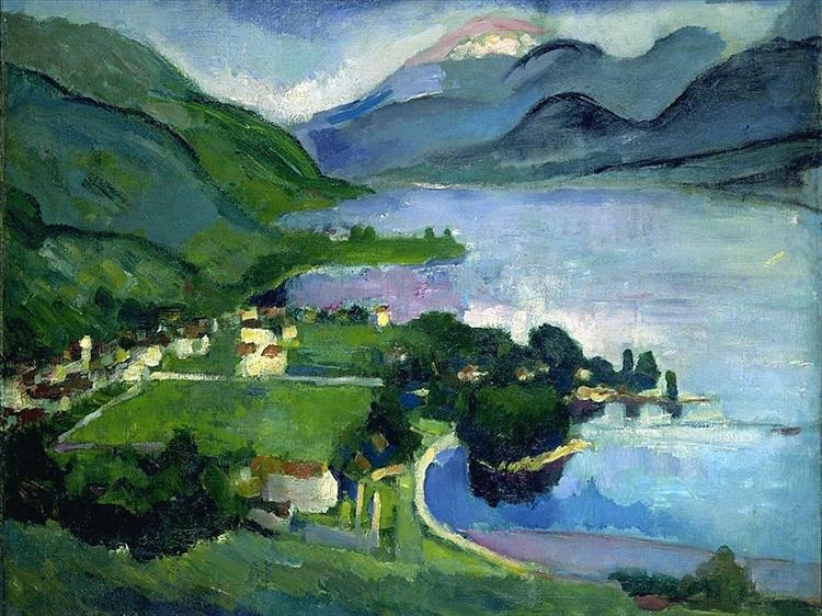 The Lake, Annecy, 1912 - Arthur Beecher Carles