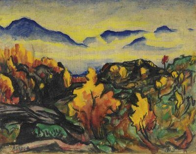 Ascona im Herbst, 1915 - Arthur Segal