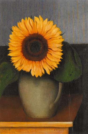 Still Life with Sunflower, 1931 - Arthur Segal