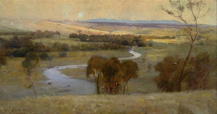 Still glides the stream, and shall for ever glide, 1890 - Arthur Streeton