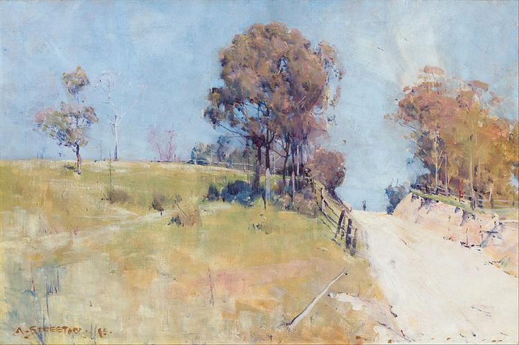 Sunlight (Cutting on a hot road) - Arthur Streeton