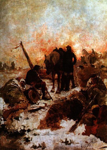 El paso de los Andes, 1889 - Arturo Michelena