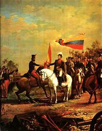 Entrega de la bandera al Batallon sin Nombre - Arturo Michelena