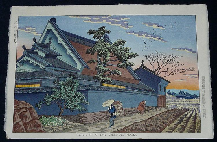 Twilight in the Village, Nara - Asano Takeji