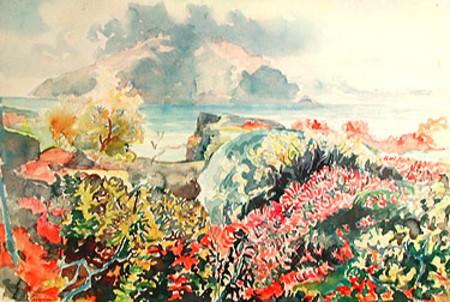 Autumn at Thingvellir, 1949 - Ásgrímur Jónsson