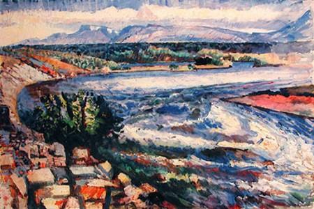 The River Kiðá in Húsafellskógur, 1953 - Asgrimur Jonsson