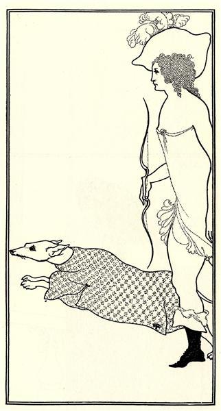 Atalanta in Calydon with the Hound, 1896 - Aubrey Beardsley