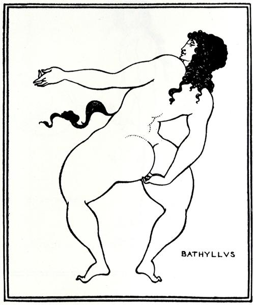 Bathyllus taking the pose, 1896 - Aubrey Beardsley