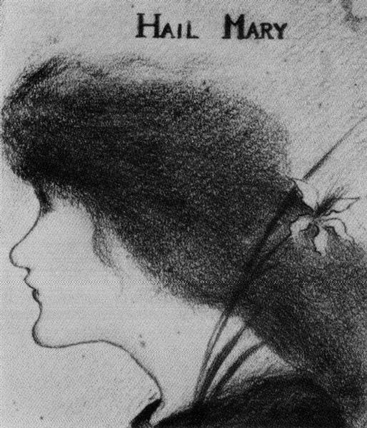 Hail Mary (pencil) - Aubrey Beardsley