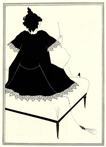 Salome on Settle, 1894 - Aubrey Beardsley