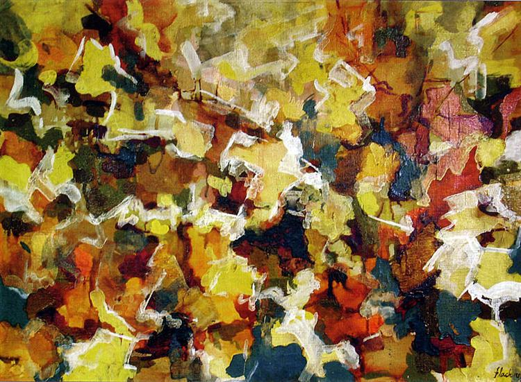 Abstract Expressionist Autumn Sky, 1953 - Audrey Flack