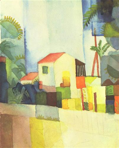 Bright House - August Macke