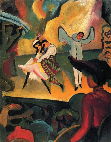 Russisches Ballett (I), 1912 - August Macke
