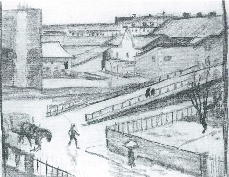 Sketch of the bridge, 1911 - Август Маке