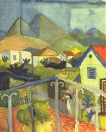 St. Germain near Tunis - August Macke