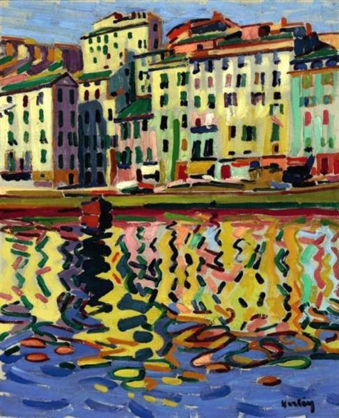 The Docks of the Port of Bastia, 1907 - Auguste Herbin