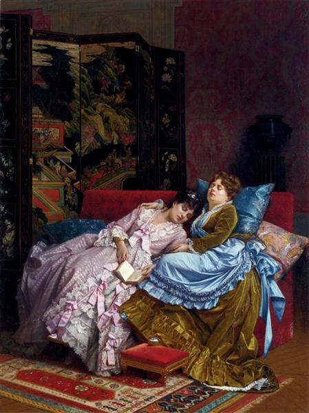 An Afternoon Idyll, 1874 - Auguste Toulmouche