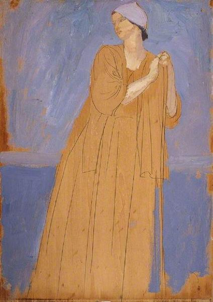 Girl Leaning on a Stick, 1910 - Augustus John