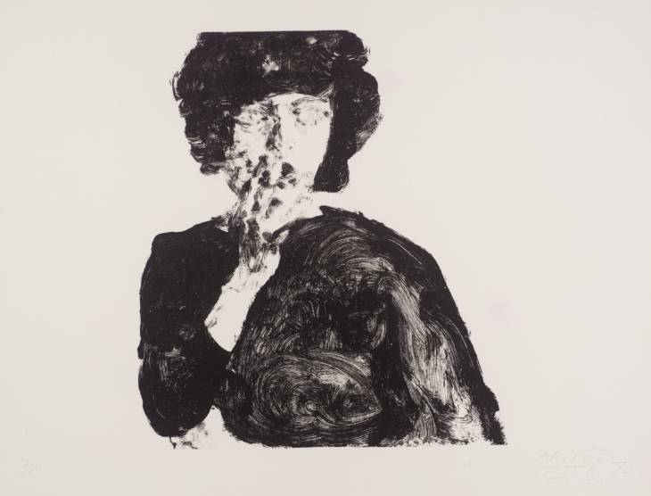 Anne with Hand on Mouth, 1970 - Avigdor Arikha