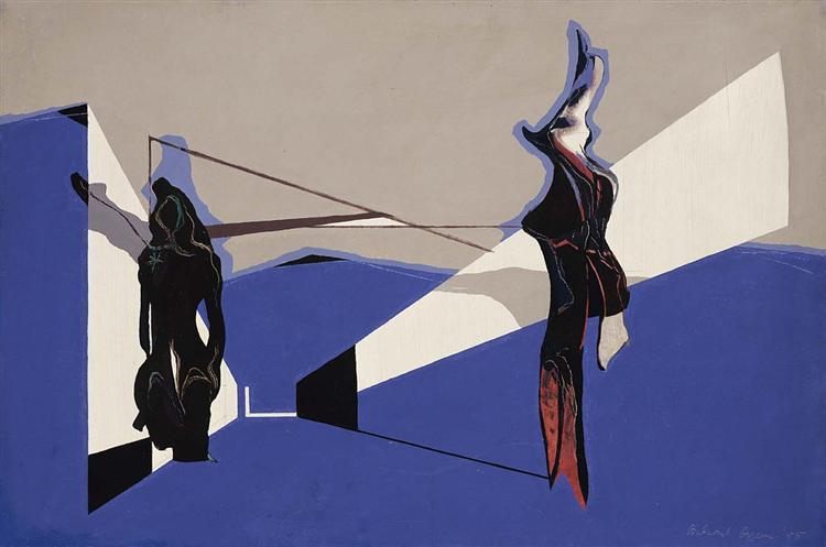 Way Down Blue, 1945 - Balcomb Greene