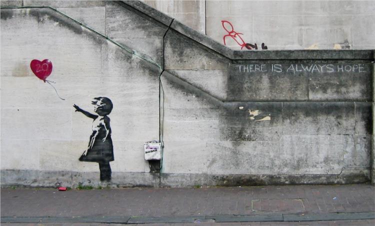 Girl with balloon - Banksy