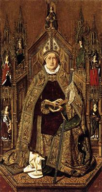 St Dominic Enthroned in Glory - Bartolome Bermejo