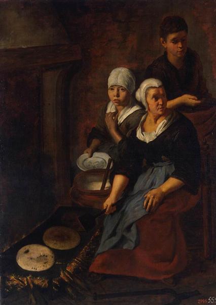 Приготовление лепёшек, 1645 - 1650 - Бартоломе Эстебан Мурильо