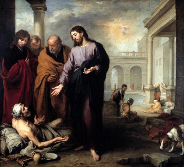 Christ at the Pool of Bethesda, 1667 - 1670 - Bartolome Esteban Murillo