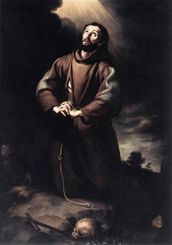 St. Francis of Assisi at Prayer - Bartolome Esteban Murillo