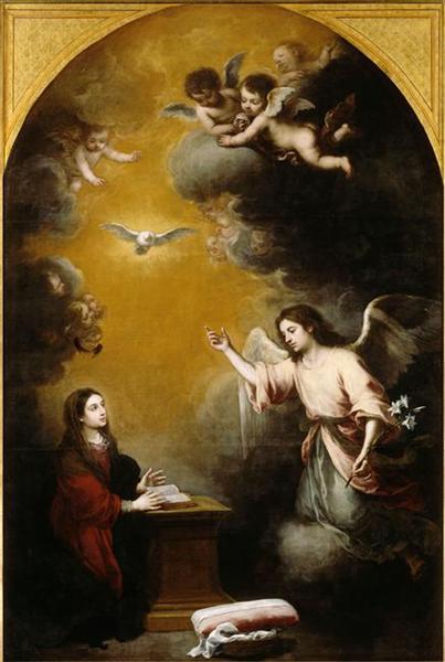 The Annunciation, 1668 - Bartolome Esteban Murillo