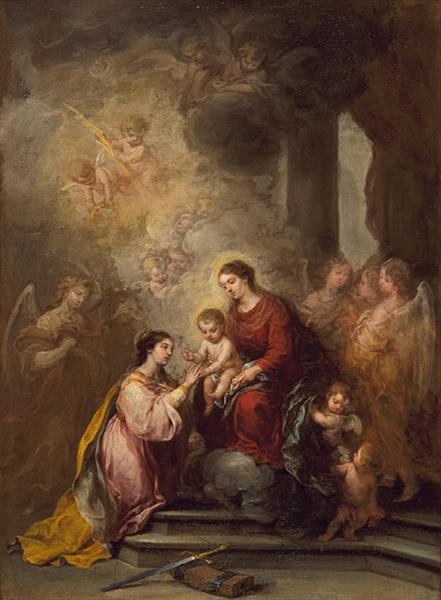 The Mystic Marriage of Saint Catherine, 1680 - 1682 - Bartolome Esteban Murillo