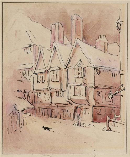 Simpkin Hears the Mice, 1902 - Beatrix Potter