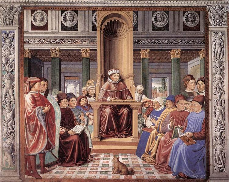 St. Augustine Reading Rhetoric and Philosophy at the School of Rome, 1464 - 1465 - Benozzo Gozzoli